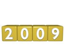 2009 nya år royaltyfri illustrationer