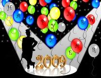 2009 nya år för helgdagsaftoninbjudan royaltyfri illustrationer