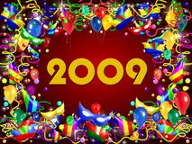 2009 party background. A 2009 party background to celebrate the new year Stock Photography