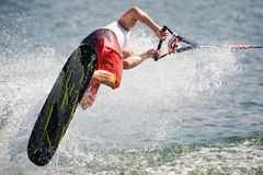 2009 Putrajaya Waterski World Cup: Men Shortboard Royalty Free Stock Image