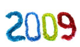 2009 que escribe con las guirnaldas Fotos de archivo libres de regalías