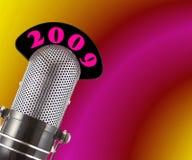 2009 Retro Microfoon Royalty-vrije Stock Afbeelding