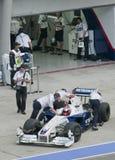 2009 Robert Kubica at Malaysian F1 Grand Prix Royalty Free Stock Photography