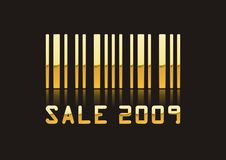 2009 SALE. A fully scalable vector illustration of Sale 2009 with barcode Royalty Free Stock Photos