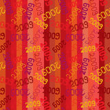 2009 seamless. Retro pattern. Vector Stock Photography
