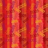 2009 seamless. Retro pattern. Vector stock illustration