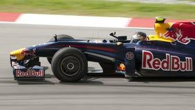 2009 Sebastian Vettel at Malaysian F1 Grand Prix Royalty Free Stock Photography
