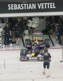 2009 Sebastian Vettel at Malaysian F1 Grand Prix stock images