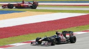 2009 Sebastien Bourdais bij Maleise F1 Grand Prix Stock Afbeelding