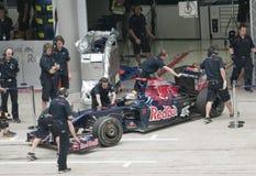 2009 Sebastien Bourdais bij Maleise F1 Grand Prix Stock Foto's