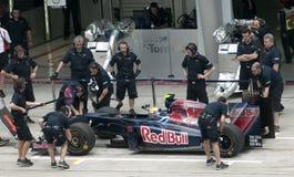 2009 Sebastien Buemi bij Maleise F1 Grand Prix Royalty-vrije Stock Foto