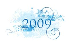 2009 snowflakes σχεδίου ελεύθερη απεικόνιση δικαιώματος