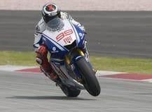 2009 Spaanse Jorge Lorenzo van het Team van Fiat Yamaha Stock Foto's
