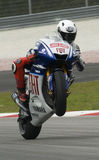 2009 Spanish Jorge Lorenzo of Fiat Yamaha Team Royalty Free Stock Photo