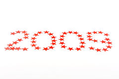 2009 sterren op wit Stock Foto's