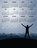 2009 Success Calendar. An illustrated 2009 calendar with a theme of achievement or success Vector Illustration