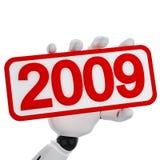 2009 szyldowych rok Obraz Stock