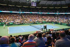 2009 Tennis Davis cup - Israeli team serve Royalty Free Stock Images