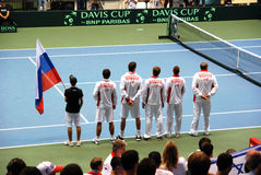 2009 Tennis Davis cup - Russian team. 2009 Davis cup, Israel-Russia, Game 3 Royalty Free Stock Image