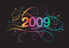 2009 typografia Obrazy Stock