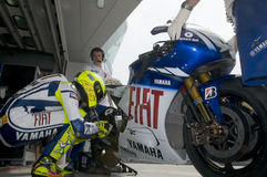 2009 Valentino Rossi of Fiat Yamaha Team Stock Photography