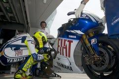 2009 Valentino Rossi van het Team van Fiat Yamaha Stock Fotografie