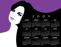 2009 Woman Calender Stock Image