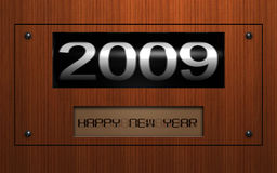 2009 Wooden Plate. Wooden plate with 2009 date Royalty Free Stock Photo