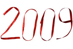 2009 written in ribbon Royalty Free Stock Images