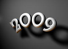 2009 year. 2009 new year,3D art Royalty Free Stock Photo