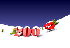 The 2009 year is cooming. Computer generated 3D illustration Royalty Free Stock Photo