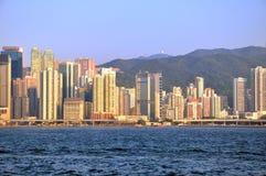 2009y byggnader moderna Hong Kong Arkivfoton