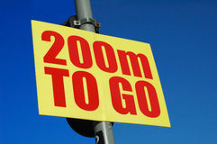 200m to go Royalty Free Stock Image