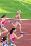 200m värmekvinnor Royaltyfria Bilder