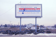 200th Anniversary U.S. Constitution sign Stock Image