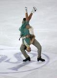 2010个冠军形象isu滑冰的世界 库存图片