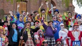 2010个小丑节日 免版税库存照片