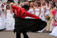 2010个新娘游行 图库摄影