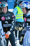 2010个杯子巨人并行雪板世界 免版税图库摄影