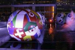 2010个杯子fifa足球世界 图库摄影