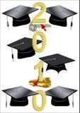 2010个盖帽文凭 库存图片