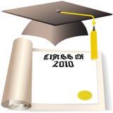 2010个盖帽选件类文凭毕业 库存例证
