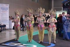 2010个舞蹈演员陈列商展photoforum 库存照片
