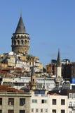 2010个资本文化galata伊斯坦布尔塔 图库摄影
