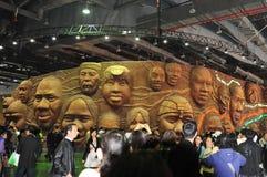 2010个非洲人瓷商展亭子上海联盟 免版税库存图片