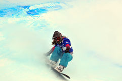2010交叉杯子雪板世界 图库摄影