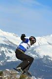 2010交叉杯子pozzolini雪板世界 免版税库存照片