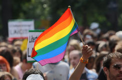 2010位同性恋者巴黎自豪感 库存照片