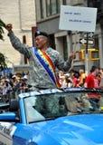 2010位同性恋者nyc游行自豪感 库存照片