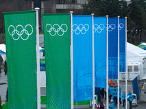 2010副横幅奥林匹克温哥华 免版税图库摄影